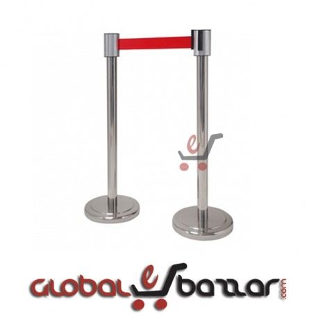 Stainless Steel Q-Up Stand - Velvet Rope