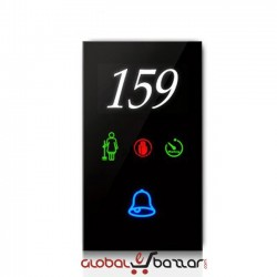 Hotel Door bell system (Black Glass)