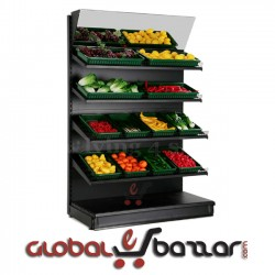 Supermarket Fruits Vegetables Display Stand